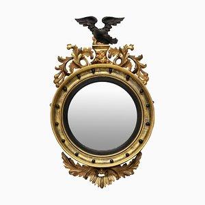 Antique Regency English Convex Mirror