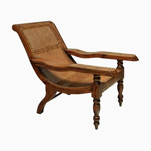 Large 19th Century Solid Teak Plantation Chair
