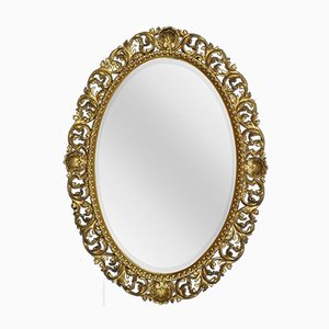 Large Antique Oval Gilt Wall Mirror