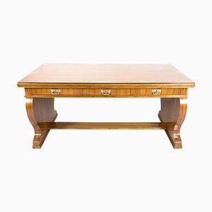 Antiker Jugendstil Schreibtisch aus Nussholz