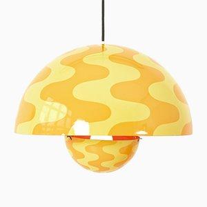 Lámpara colgante danesa de Verner Panton para Louis Poulsen, años 70