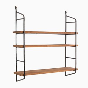 Mid-Century Black and Walnut Panni Shelf