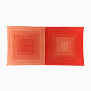 Large Square Cotton Velvet Wall Decor by Verner Panton for Mira X, 1960s