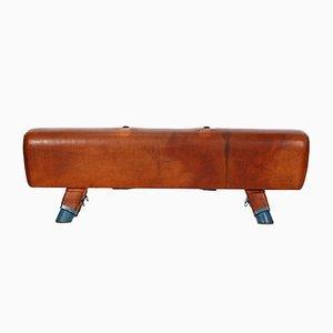 Vintage Leather Gymnastics Pommel Horse Bench, 1930s