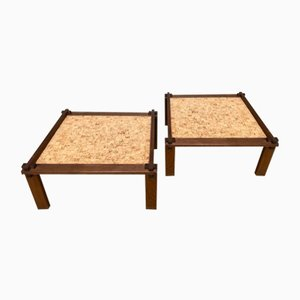 Brutalist Farmer Side Tables with Reversible Tops by Gerd Lange for Bofinger, 1960s, Set of 2