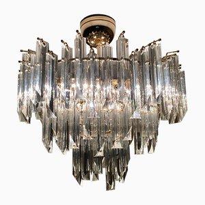 Lámpara de techo de cristal de Preciosa, años 80