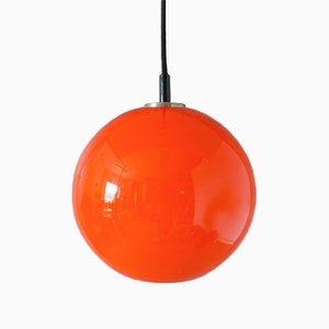 Vintage Glass Ceiling Lamp from Honsel Leuchten, 1960s
