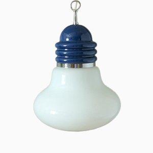 Italian Glass Bulb-Shaped Ceiling Lamp, 1950s