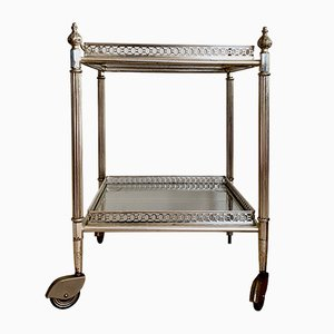 Vintage French Serving Trolley from Maison Baguès, 1950s