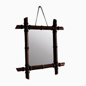 Vintage Bamboo Mirror, 1950s