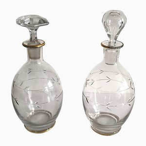 Vintage French Carafes, 1940s, Set of 2