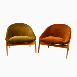 Mid-Century Lounge Chairs by Hartmut Lohmeyer for Artifort, 1950s, Set of 2