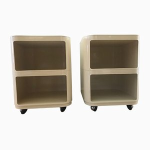Vintage Componibili Carts by Anna Castelli Ferrieri for Kartell, 1970s, Set of 2