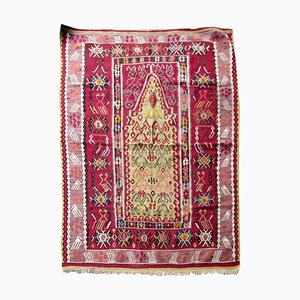 Antique Turkish Melas Rug, 1910s
