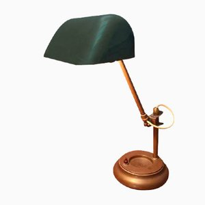 Antique Brass Table Lamp, 1930s
