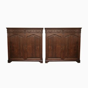 Antique Cabinets, 1900s, Set of 2