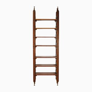 Vintage Italian Teak Shelf or Room Divider, 1960s