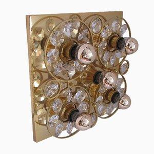 Applique in vetro dorato e oro, anni '60