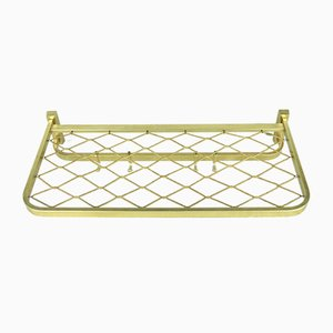 German Gold Metal Coat Rack, 1960s