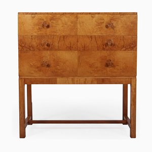 Art Deco Burl Maple and Sycamore Chest of Drawers, 1930s