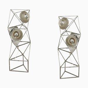 Poliedra Floor Lamps by Felice Ragazzo for Guzzini, 1960s, Set of 2