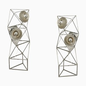 Poliedra Stehlampen von Felice Ragazzo für Guzzini, 1960er, 2er Set