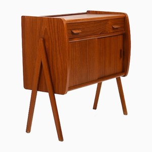 Small Mid-Century Danish Teak Chest of Drawers, 1950s