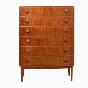 Danish High Chest of Drawers, 1950s