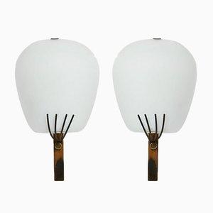 Lampade da parete di Palle Suenson, Danimarca, anni '50, set di 2