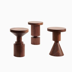 Wooden Chess Piece Stool by Anna Karlin