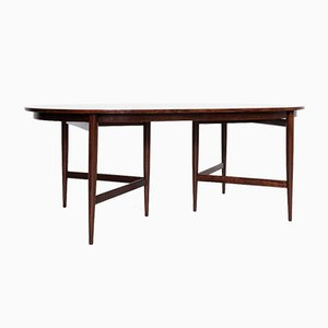 Mid-Century Rosewood Oval Dining Table by Werner Wölfer for V-form, 1960s