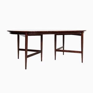 Table de Salle à Manger Ovale Mid-Century en Palissandre par Werner Wölfer pour V-form, 1960s