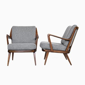 Mid-Century Beech Easy Chairs from Knoll, 1960s, Set of 2