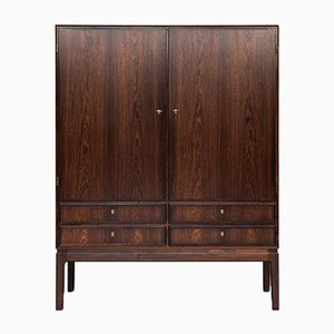 Mid-Century Danish Rosewood Cabinet with 2 Doors & Drawers, 1960s