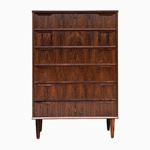 Mid-Century Danish Rosewood Chest of 6-Drawers with Long Drawer Handle in 2 Parts