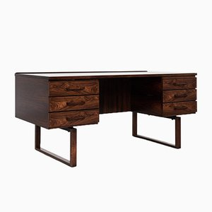 Mid-Century Danish Rosewood Desk by Henning Jensen & Torben Valeur for Munch Møbler
