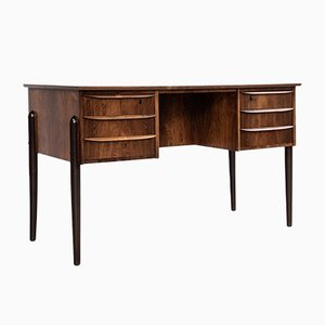 Mid-Century Danish Rosewood Desk with 2x3 Drawers, 1960s