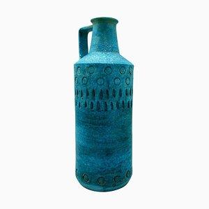 Vase in Grün & Gold von Aldo Londi für Bitossi, 1960er