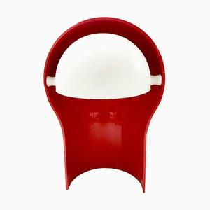 Rote Telefono Tischlampe von Vico Magistretti für Artemide, 1960er