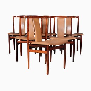 Rosewood Dining Chairs by Henning Sørensen, 1960s, Set of 6