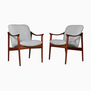 Lounge Chairs by Fredrik A. Kayser, 1960s, Set of 2