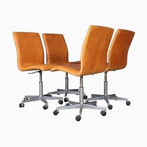 Chaise de Bureau Oxford par Arne Jacobsen pour Fritz Hansen