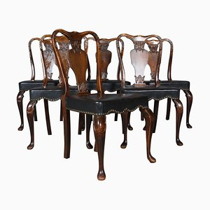 Vintage Rococo Style Dining Chairs, Set of 6
