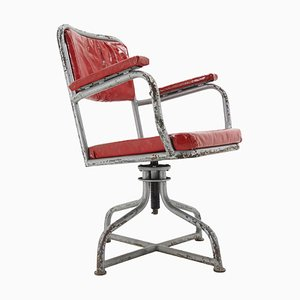 Industrial Metal Adjustable Swivel Chair, 1980s