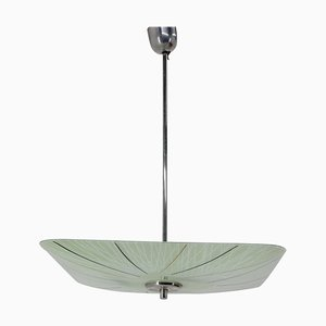 Mid-Century Glass Pendant Lamp from Napako, 1960s