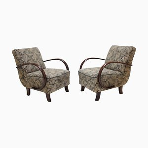Art Deco Armchairs by Jindrich Halabala, 1930s, Set of 2