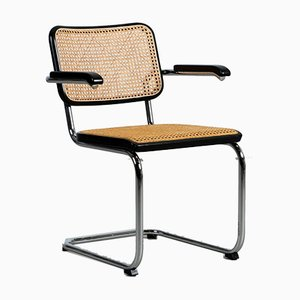 Bauhaus Black S64 Cantilever Chair by Marcel Breuer for Thonet, 1990s