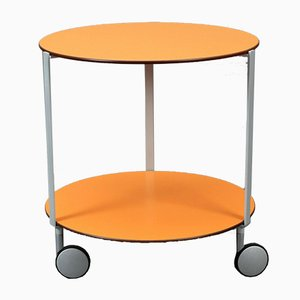 Orange Anna Deplano Dessert Trolley with Wheels by Zanotta Giro for Thonet, 2000s