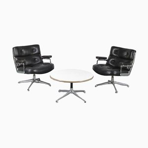 Time Life Lobby Chairs & Coffee Table by Charles & Ray Eames for Herman Miller, USA, 1960s, Set of 3