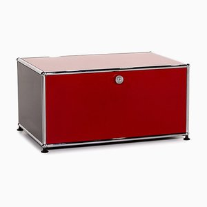 Red Metal Sideboard from USM Haller